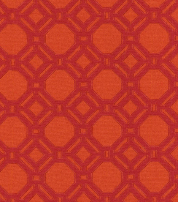 P/K Lifestyles Upholstery 8x8 Fabric Swatch-Level Off/Pomegranite