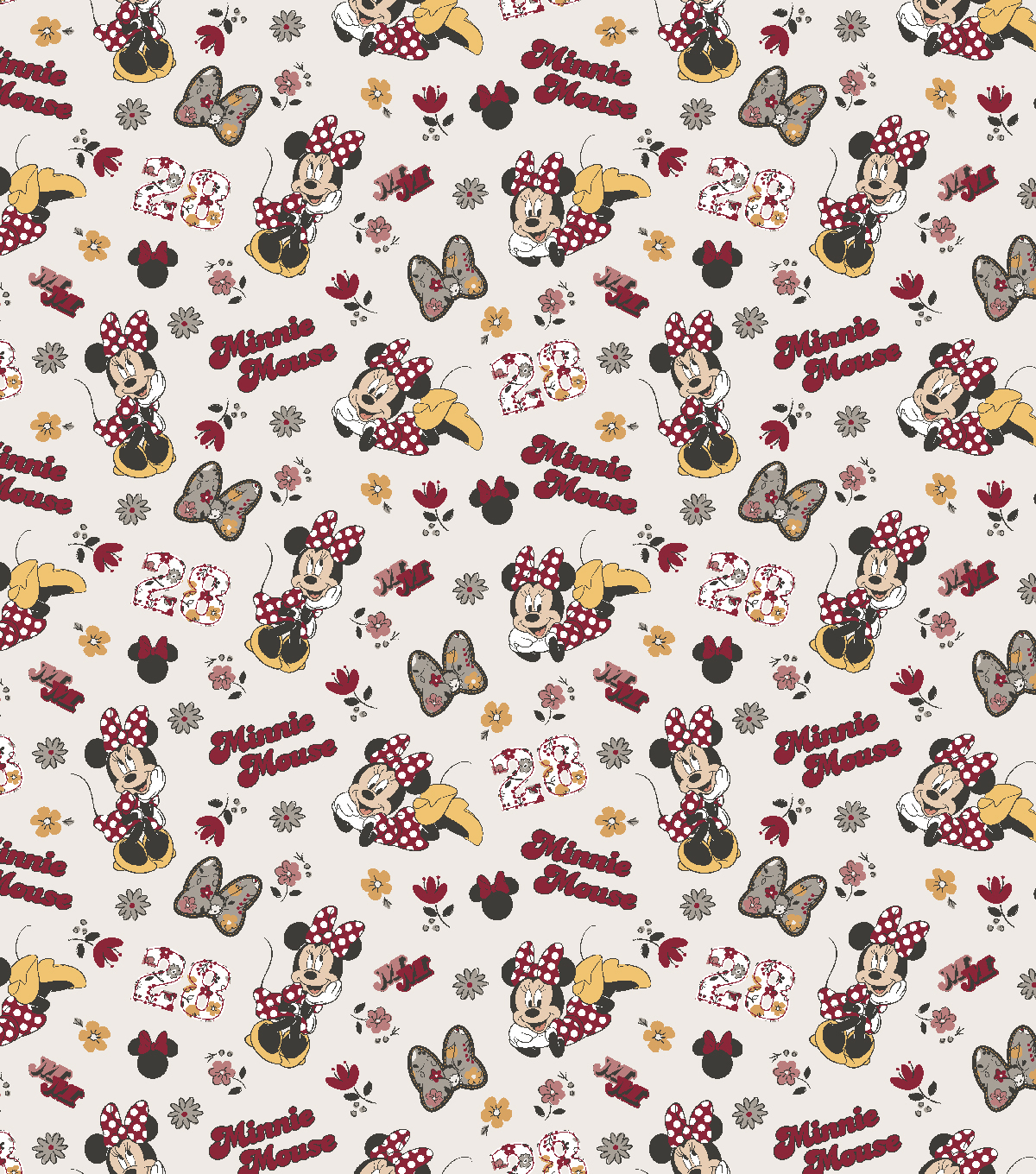 Disney Cotton Fabric-Minnie Floral
