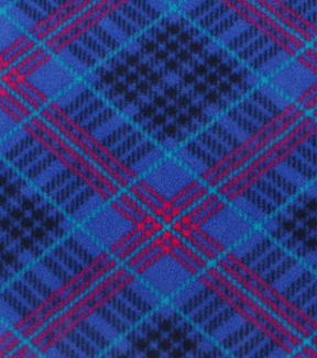 No-Sew Throw Fleece Fabric 72\u0022-Pink Purple Plaid