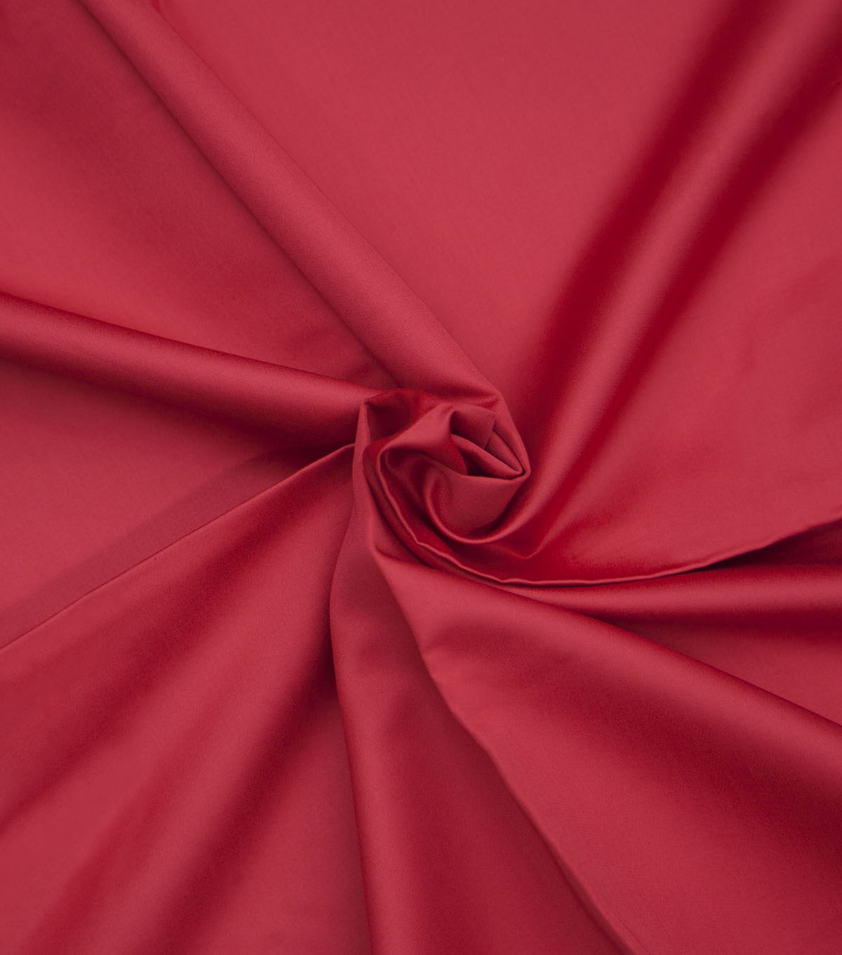 Supima Sateen Cotton Fabric-Solids, Red