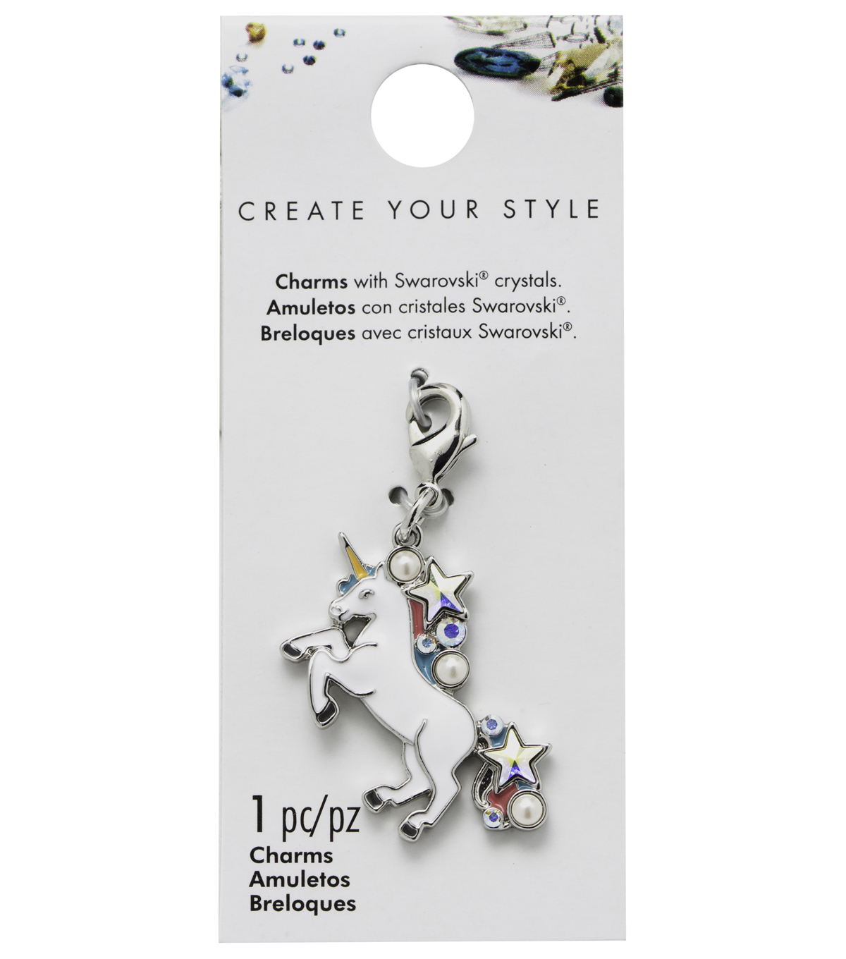 Swarovski Create Your Style Unicorn Charm-Multi Crystals