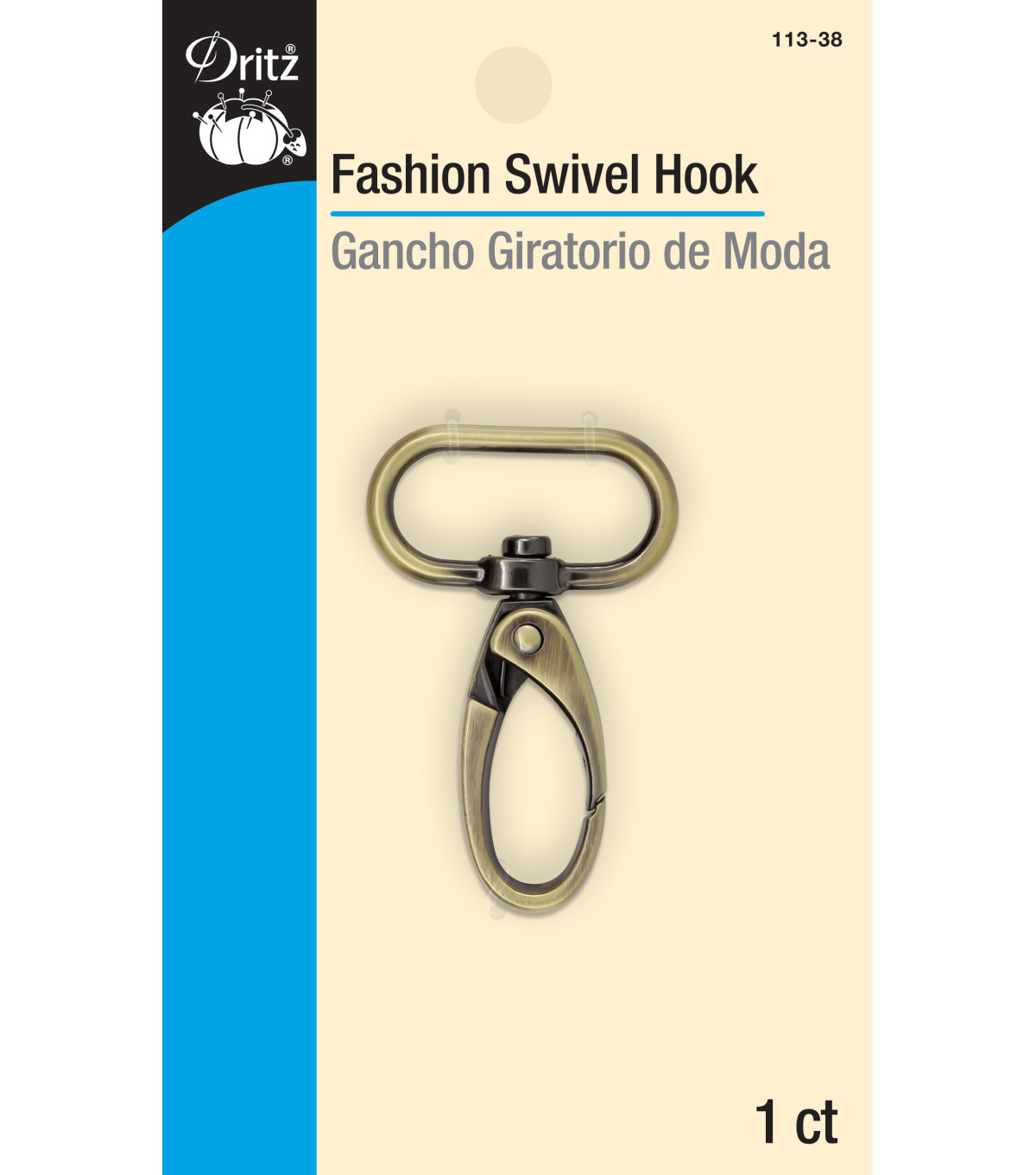Fashion Swivel Hook-Antique Brass