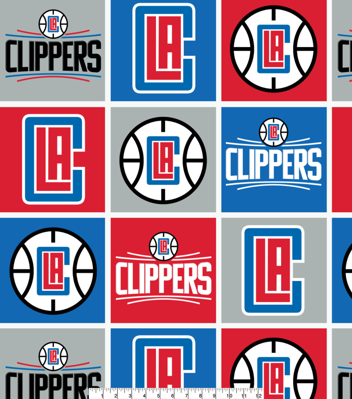 Los Angeles Clippers Fleece Fabric -Block