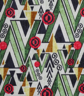 Modern Cotton Fabric -Triangle Forest on White