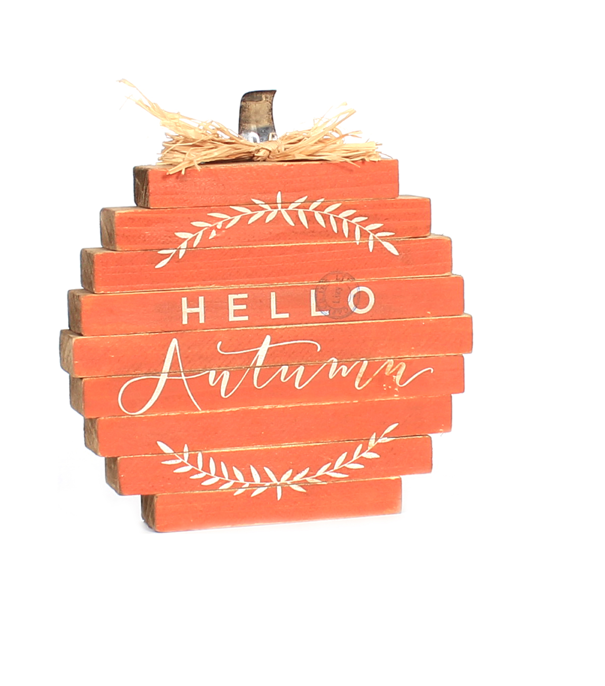 Simply Autumn Pumpkin Word Block-Hello Autumn on Orange