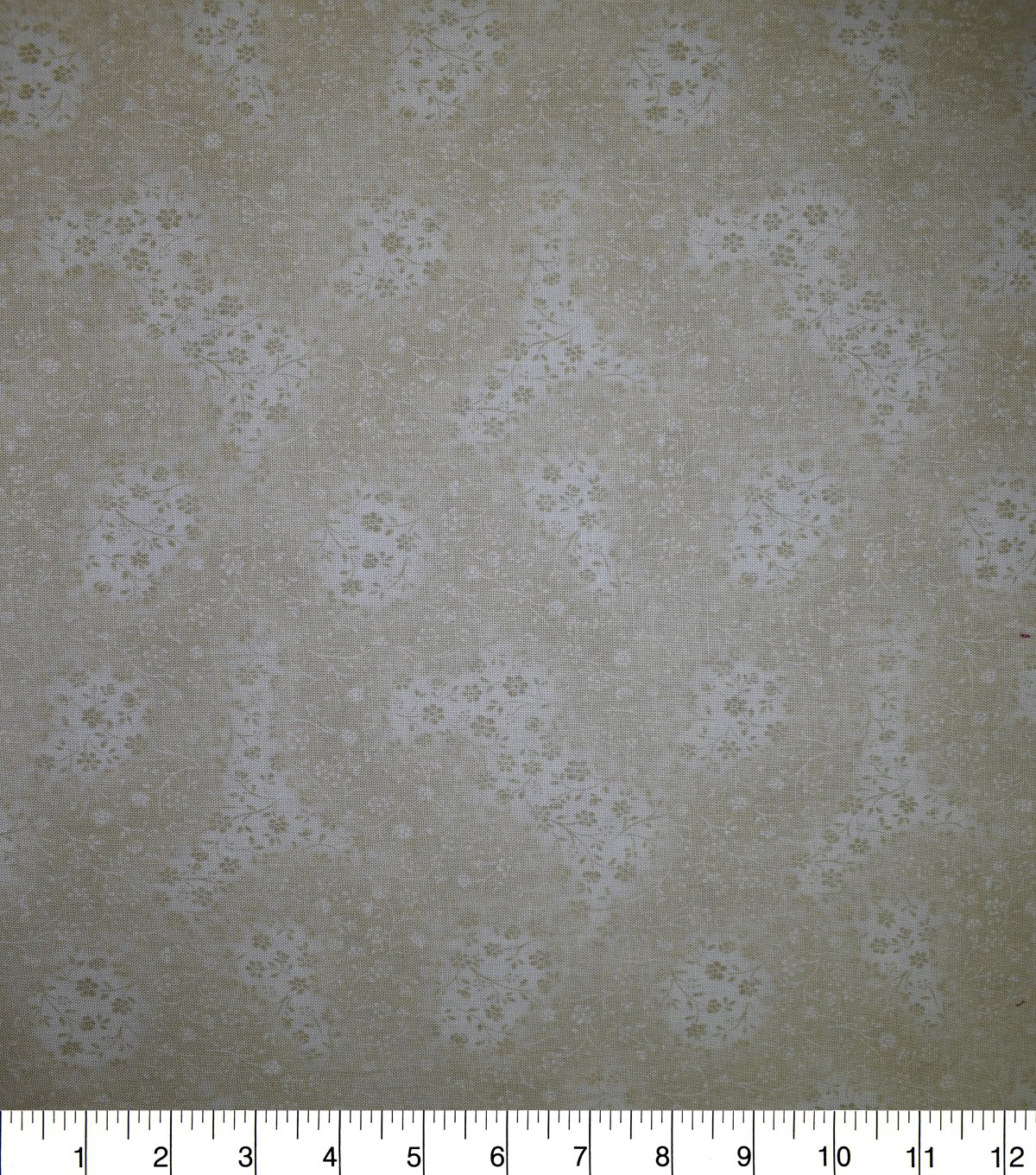 Premium Cotton Fabric-Taupe Whispy Vines