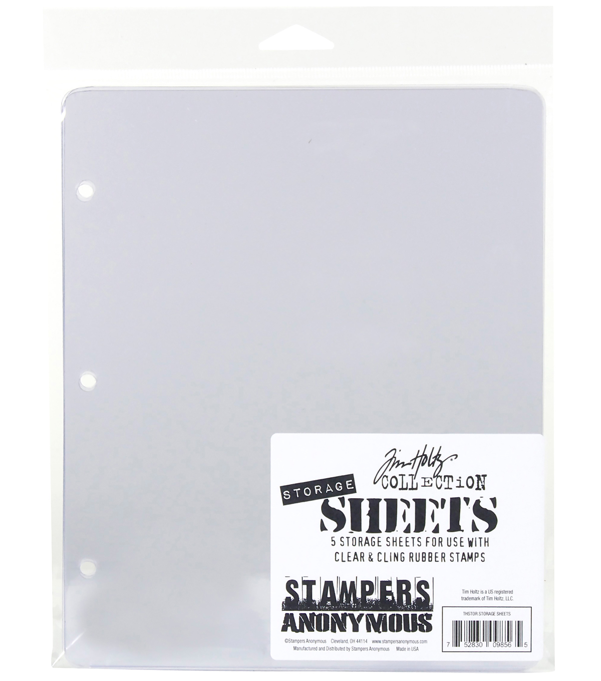 Stampers Anonymous Tim Holtz 5 pk Storage Sheets
