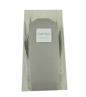 Cheer & Co. 10 pk Take Out Boxes-Pearlized Gray