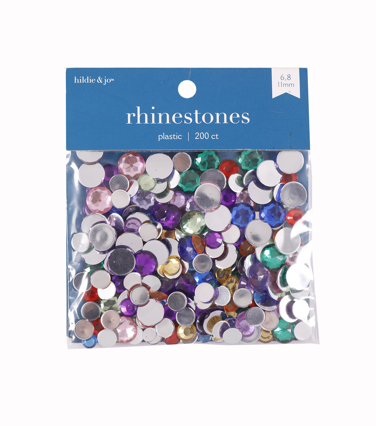Darice Craft Designer Assorted Acrylic Rhinestones-22gr/Multi