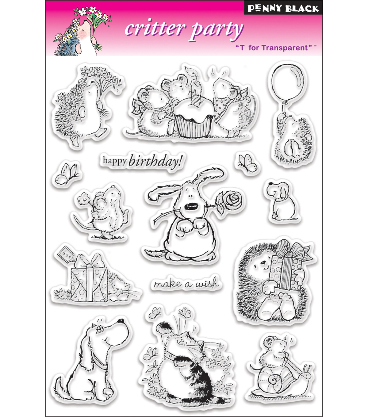 Penny Black Clear Stamps 5\u0022X7.5\u0022 Sheet-Critter Party
