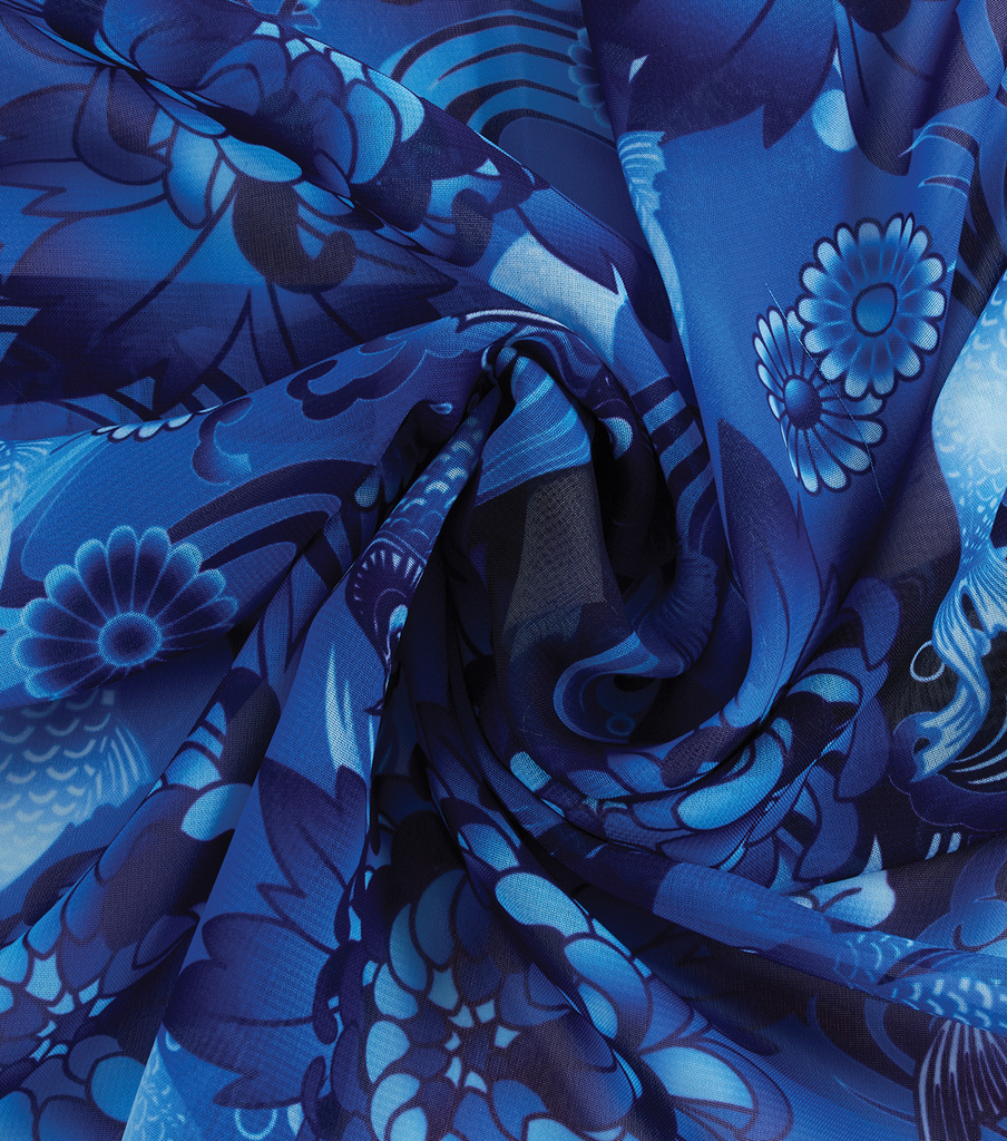 Yaya Han Cosplay Chiffon Fabric 59\u0027\u0027-Royal Koi