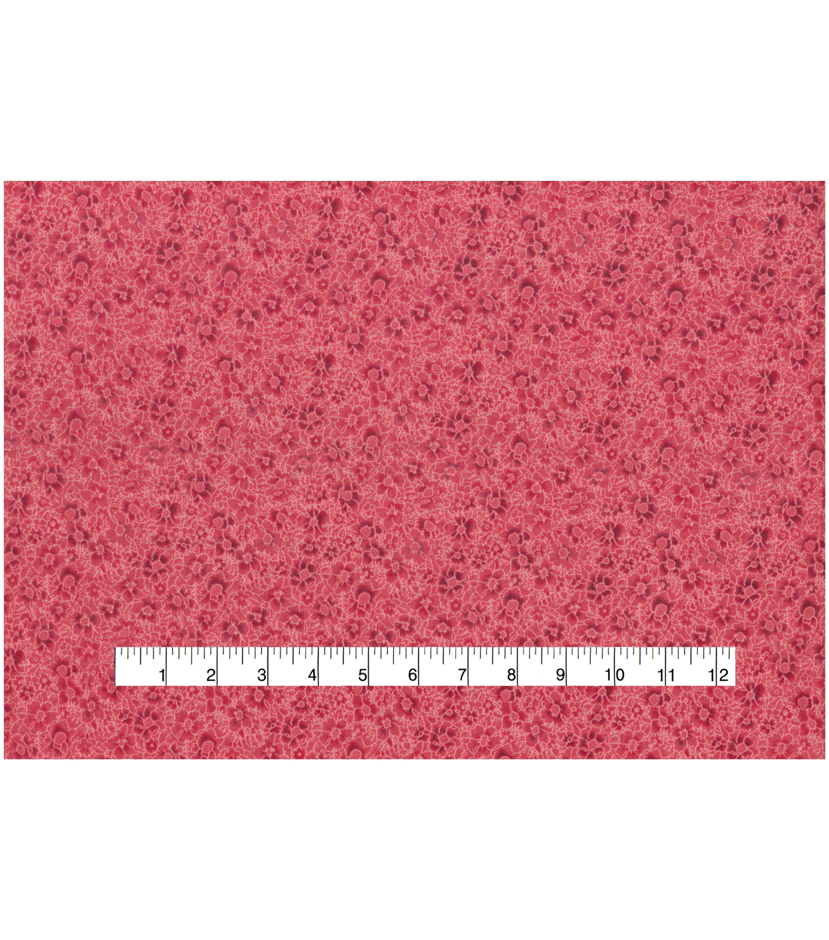 Keepsake Calico Cotton Fabric -Red Packed Flowers
