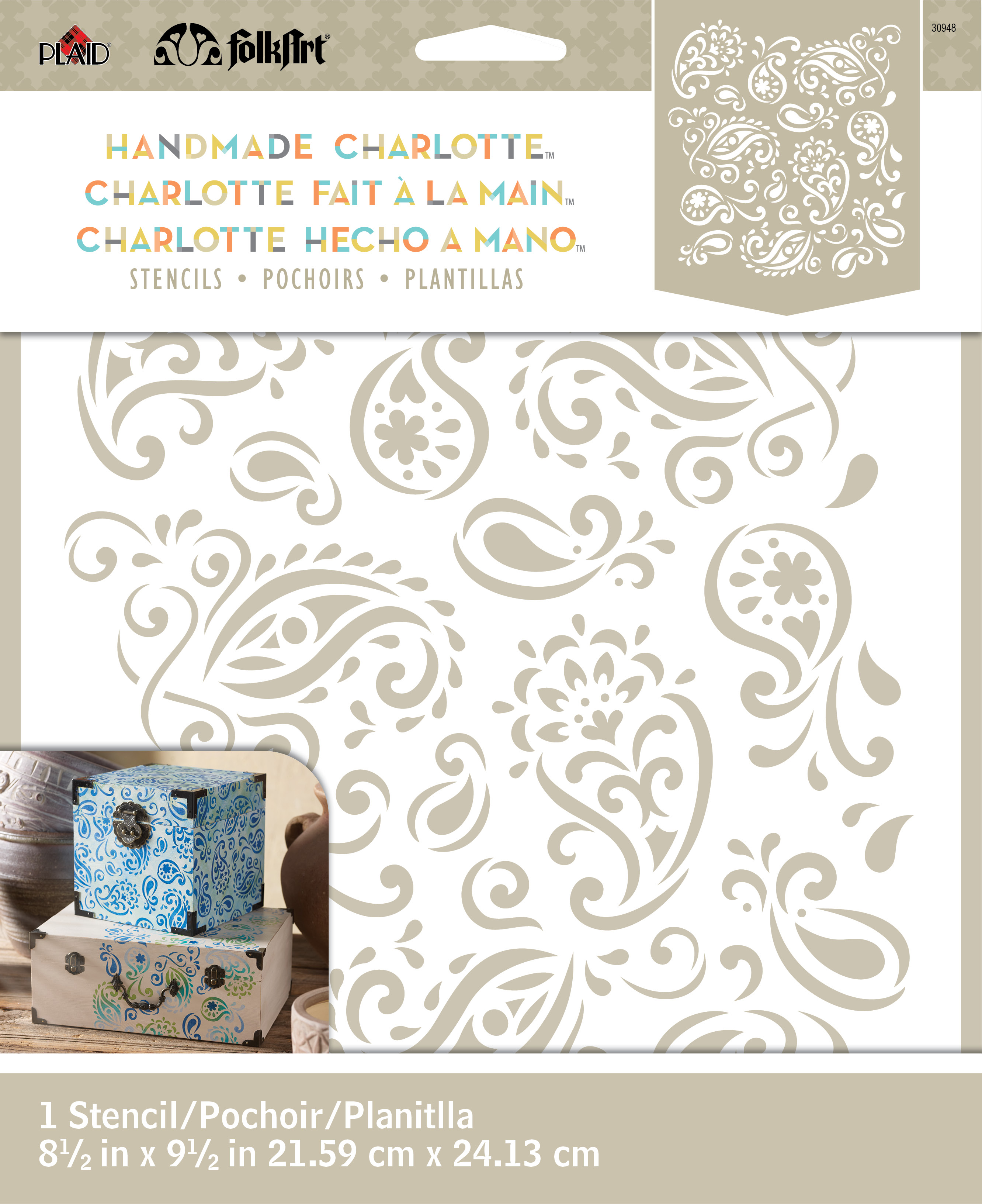 f64e9fe45 FolkArt Handmade Charlotte 8.5''x9.5'' Stencil-Paisley Delight | JOANN