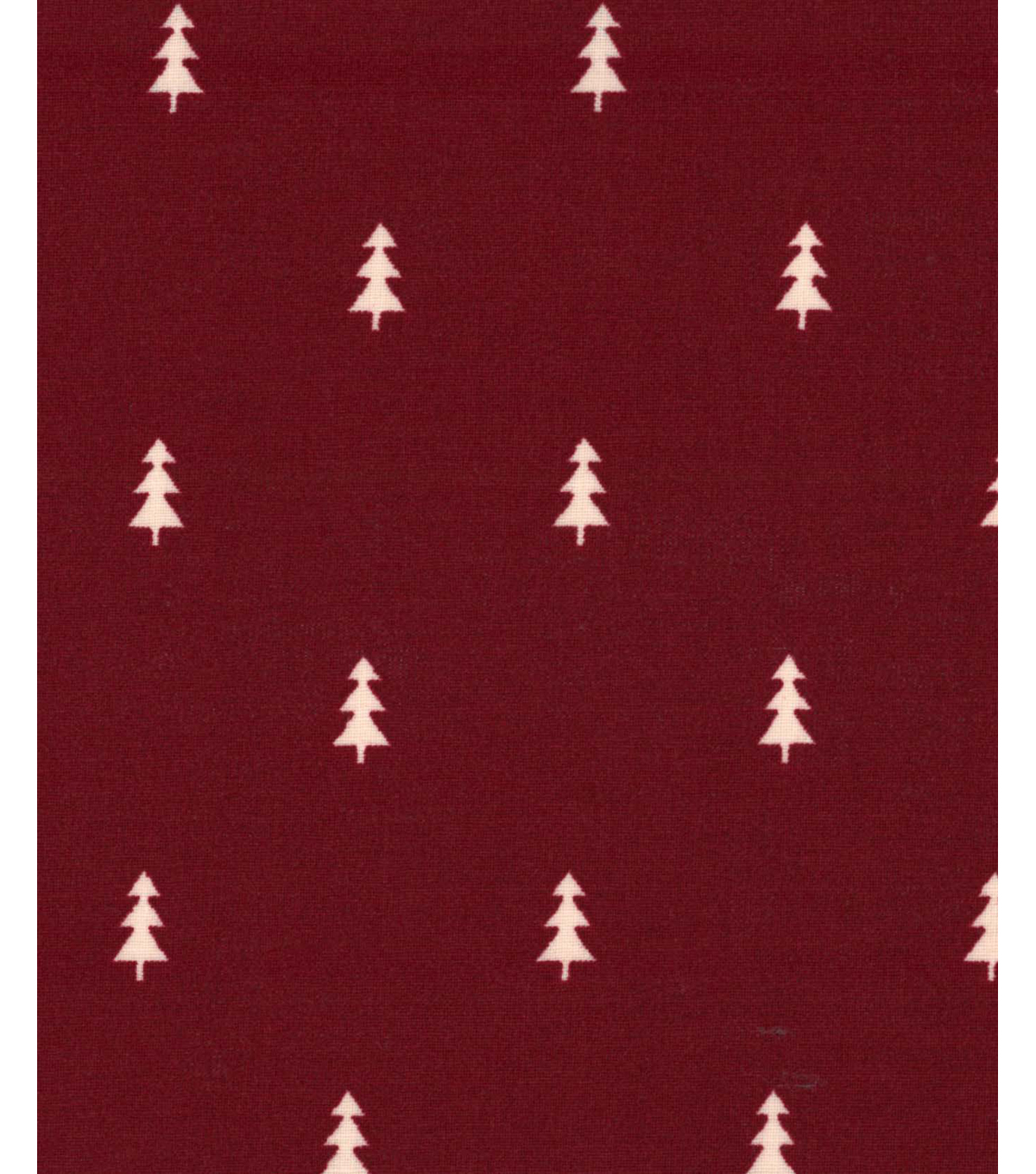Holiday Showcase Christmas Cotton Fabric 43\u0027\u0027-Mini Christmas Trees on Burgundy
