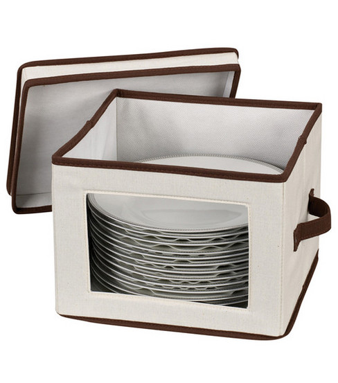 Household Essentials Window Vision Dinner Plate Storage