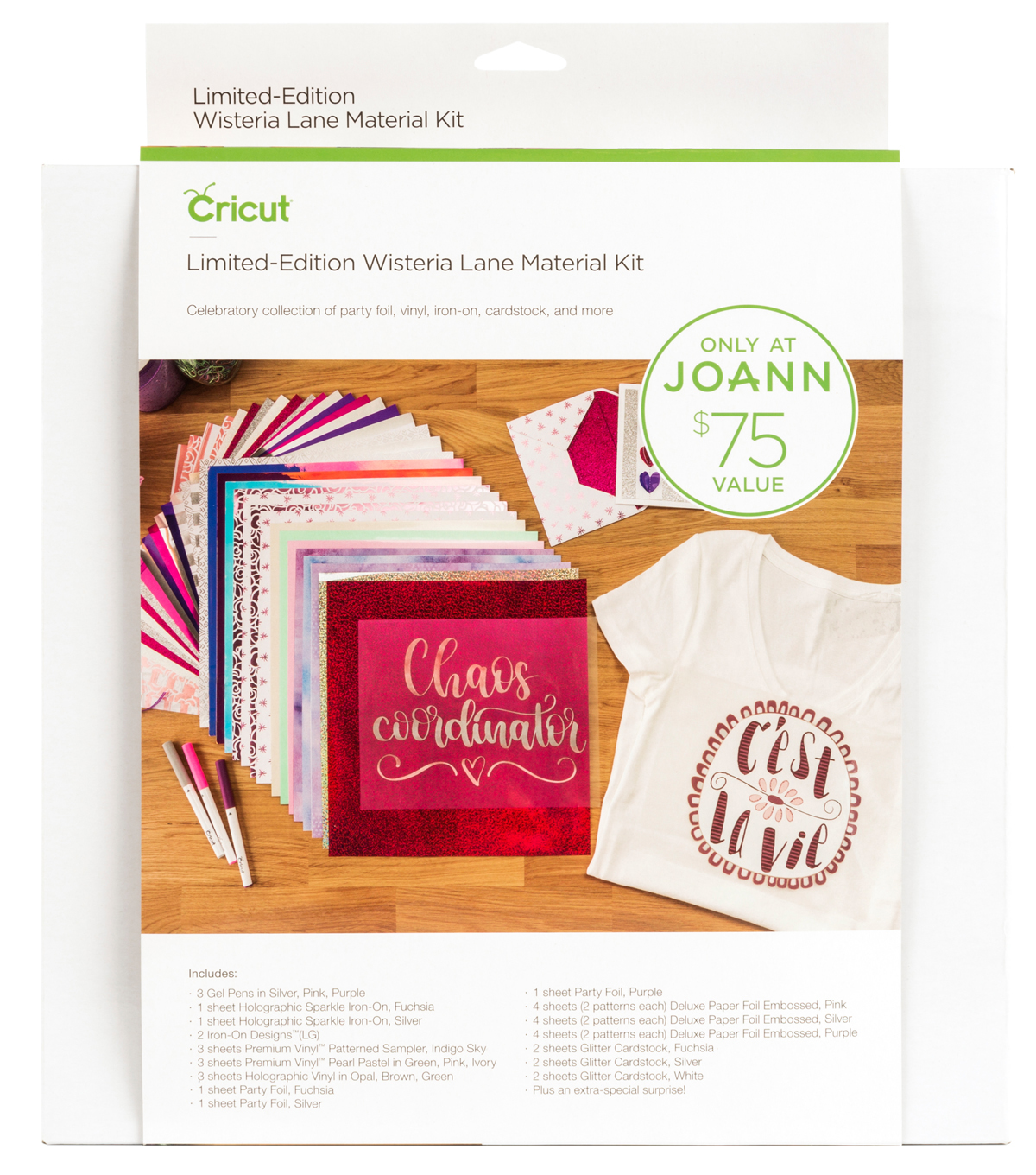 Cricut Limited Edition Wisteria Lane Material Kit