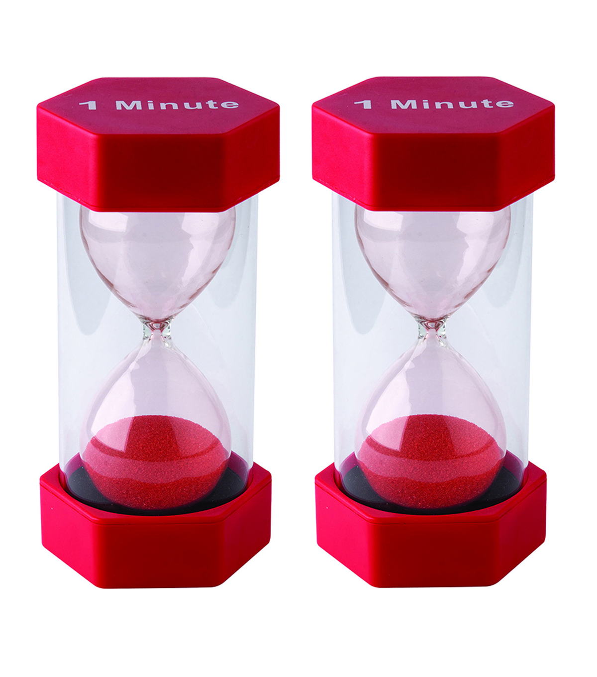 Teacher Created Resources 1 Minute Sand Timer - Large, Pack of 2