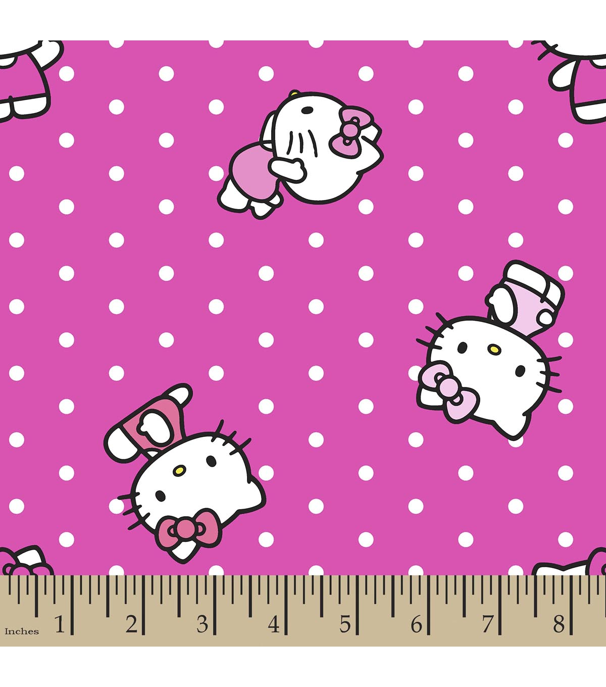 Sanrio Hello Kitty Print Fabric-Dots