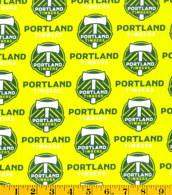 Portland Timbers Cotton Fabric 58u0022 Logo