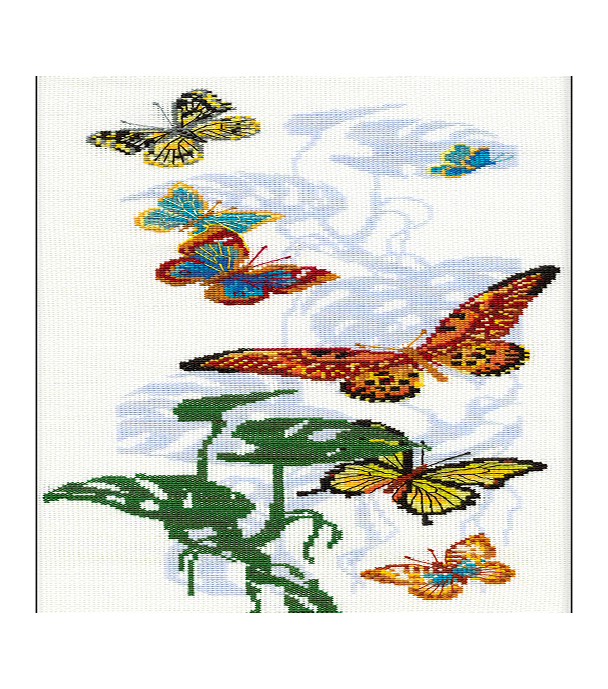 RIOLIS 8.75\u0027\u0027x19.75\u0027\u0027 Counted Cross Stitch Kit-Exotic Butterflies