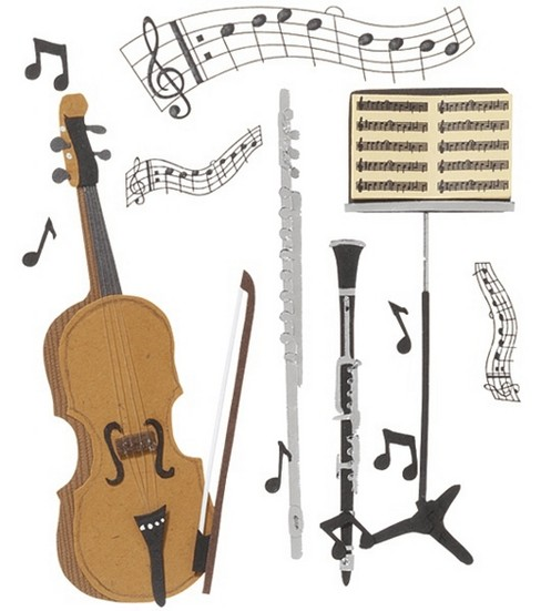 Jolee\u0027s Boutique Themed Ornate Stickers-Music