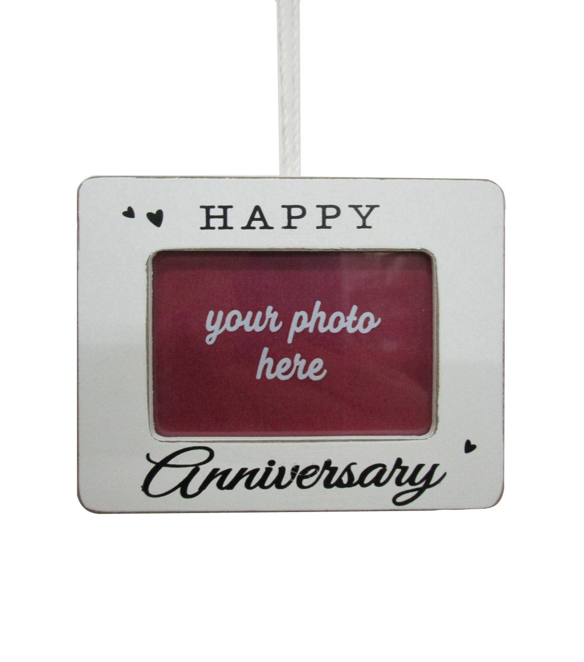 Maker\u0027s Holiday Christmas Frame Ornament-Happy Anniversary