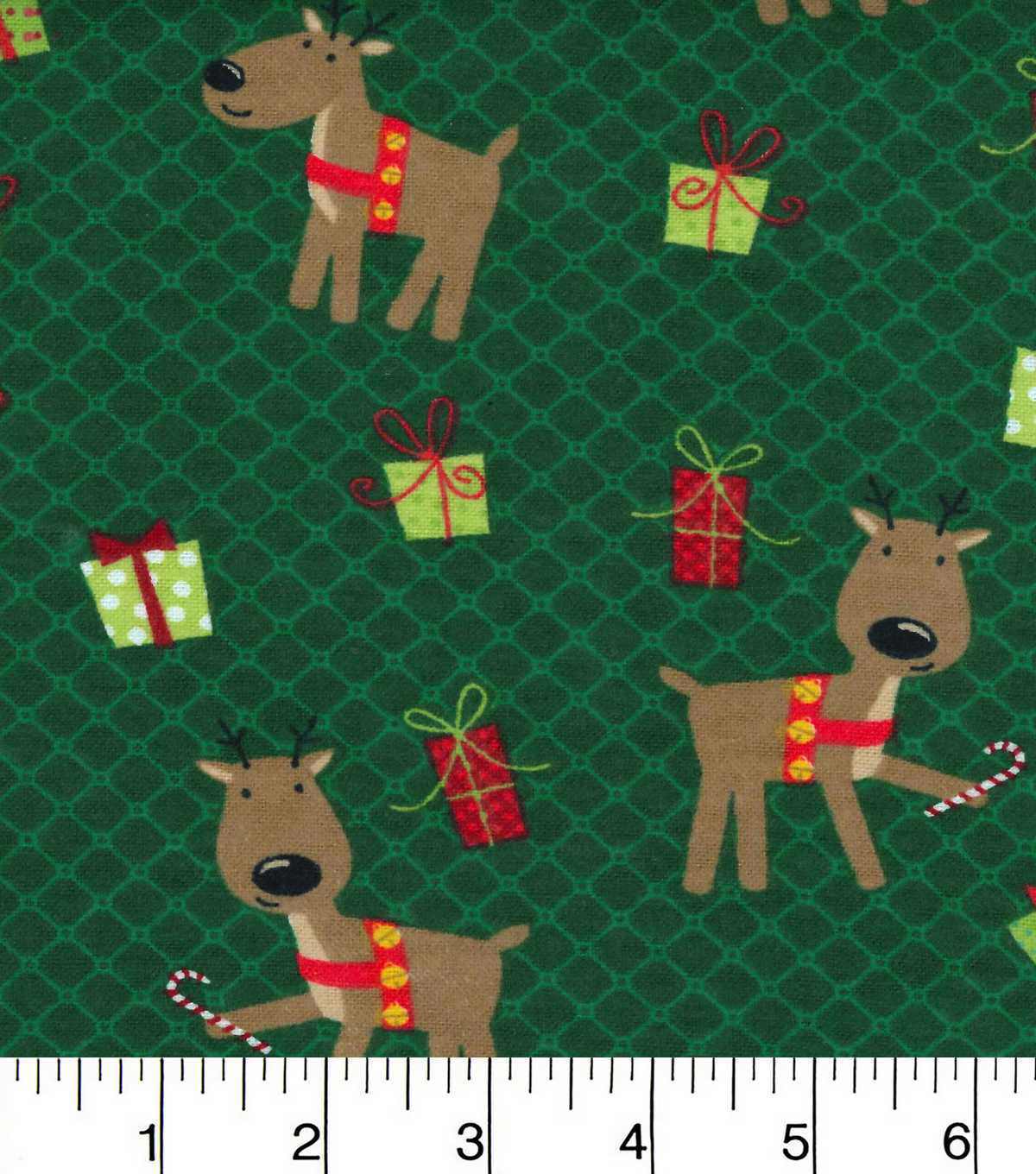 christmas flannel fabric reindeer pals and presents