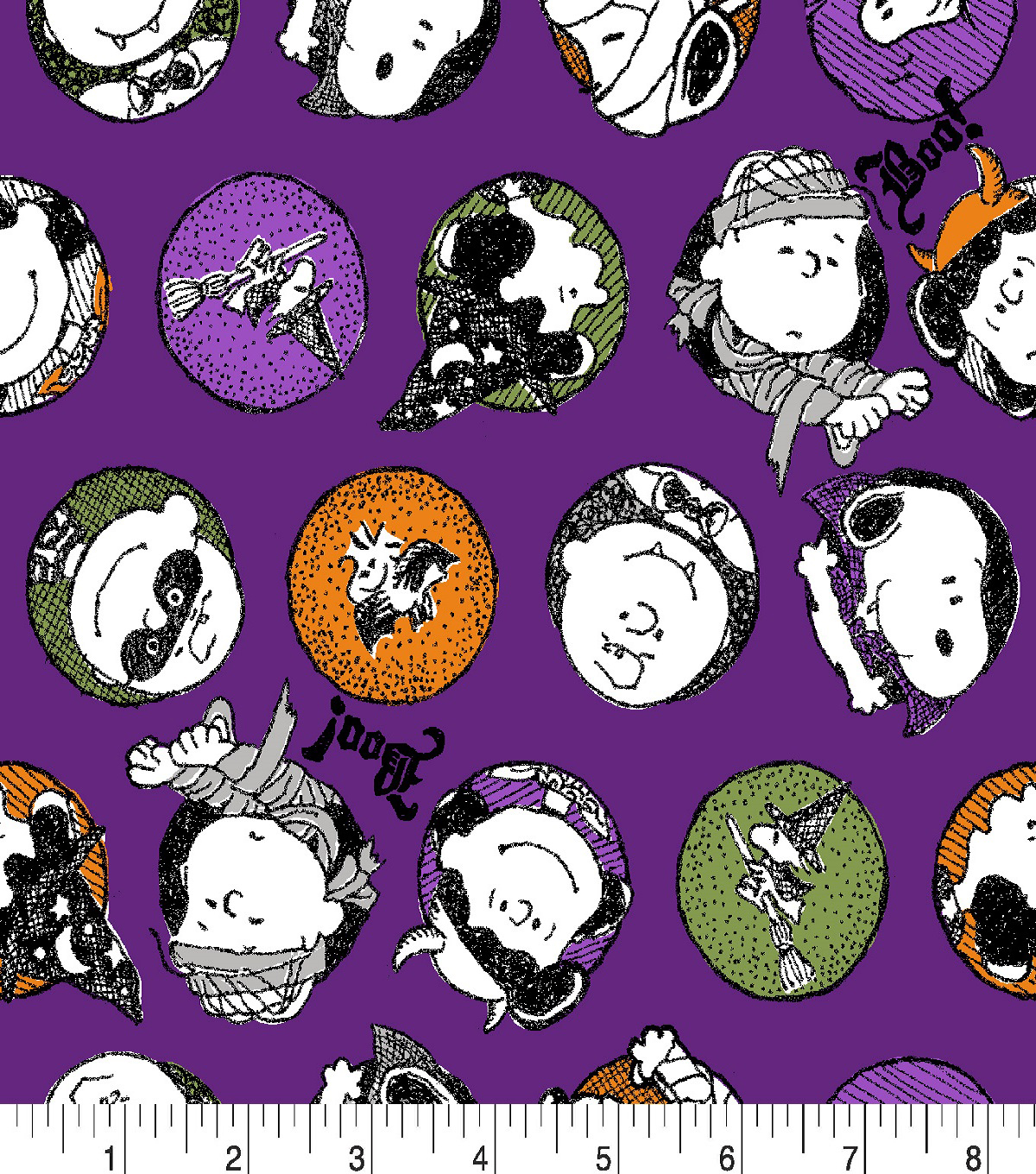 Peanuts Halloween Flannel Fabric-Trick or Treat