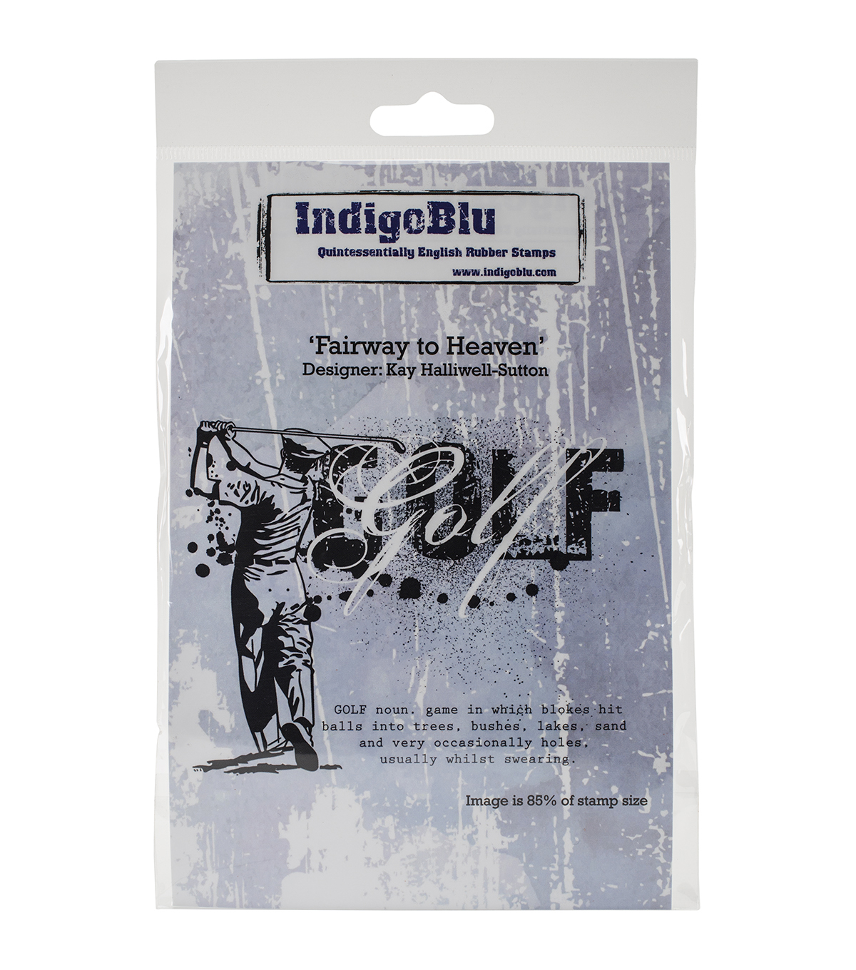 IndigoBlu Cling Mounted Stamp-Fairway To Heaven
