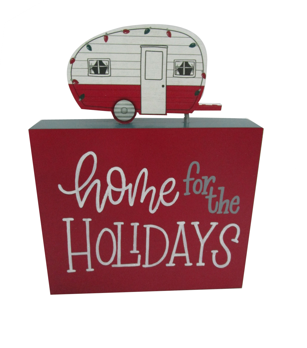 Maker\u0027s Holiday Christmas Camper Word Block-Home for the Holidays
