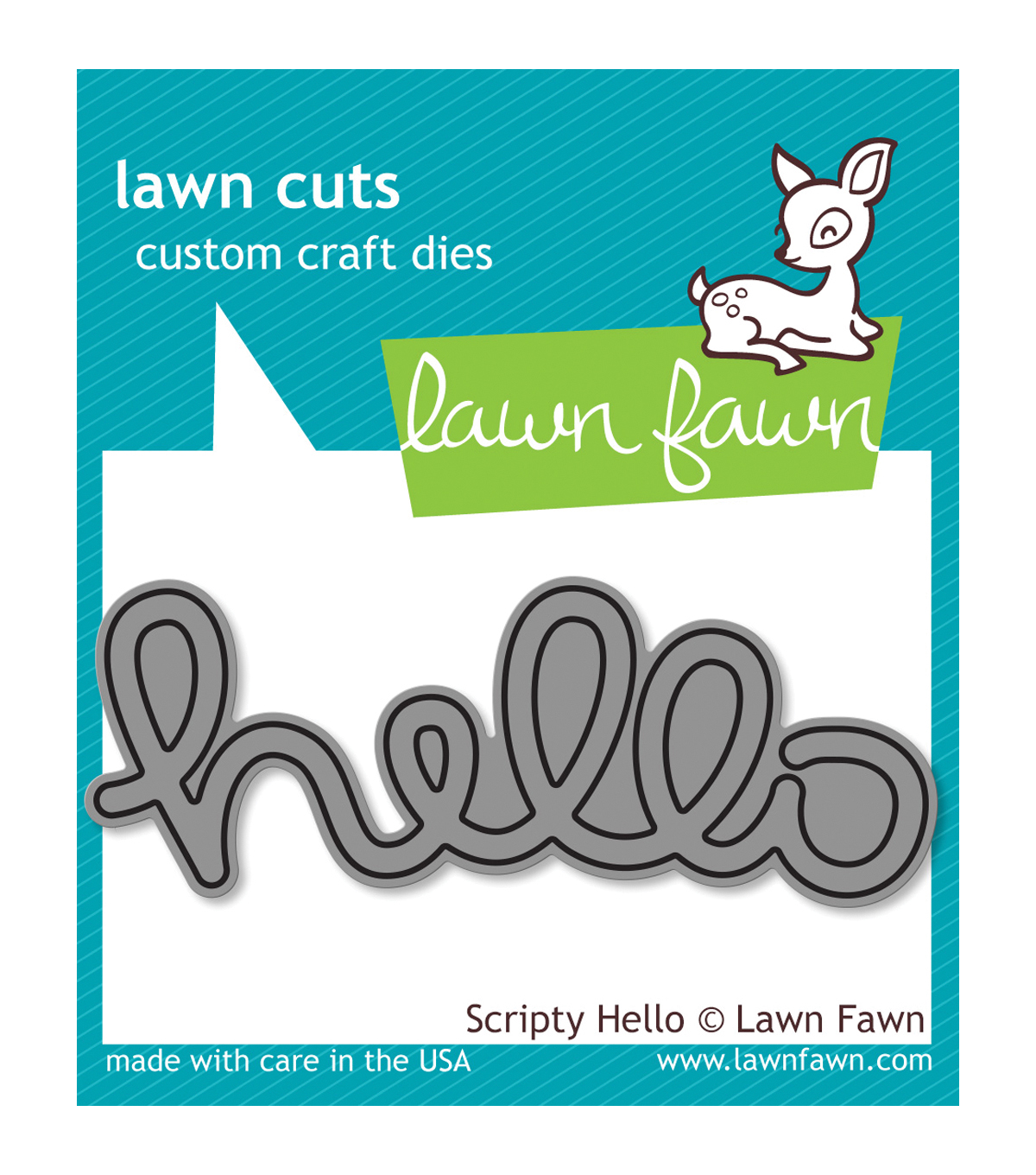 Lawn Fawn Lawn Cuts Custom Craft Die -Scripty Hello