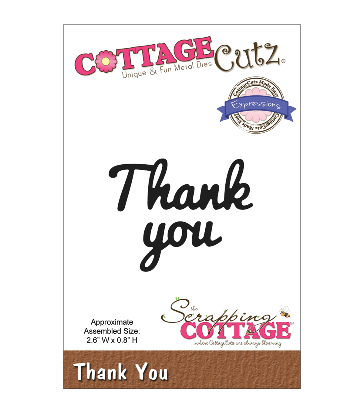 CottageCutz Expressions Thank You Die