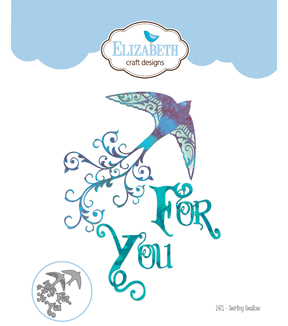 Elizabeth Craft Designs 4 pk Metal Dies-Swirling Swallow