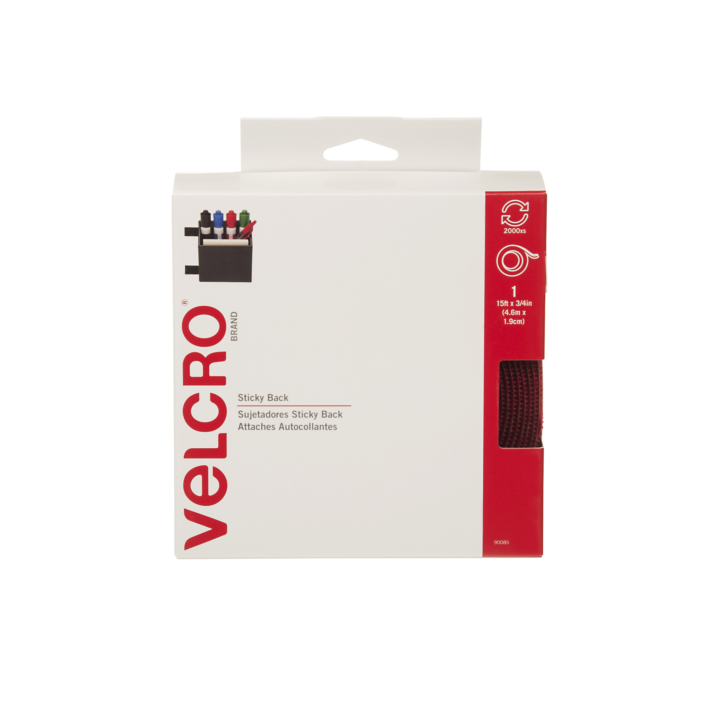 VELCRO Brand Sticky Back Tape, Red