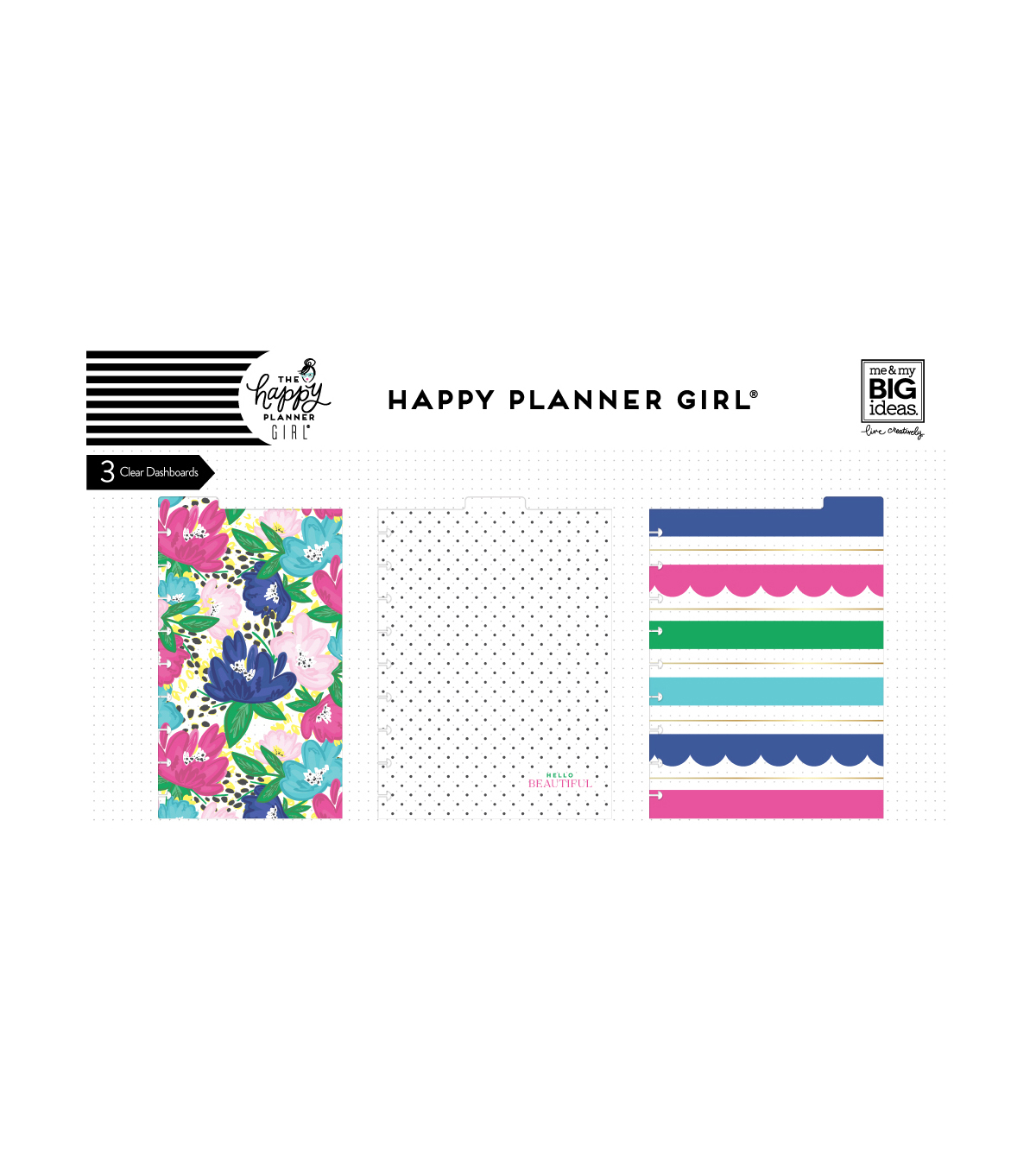 The Happy Planner Girl Dashboards - Socialite