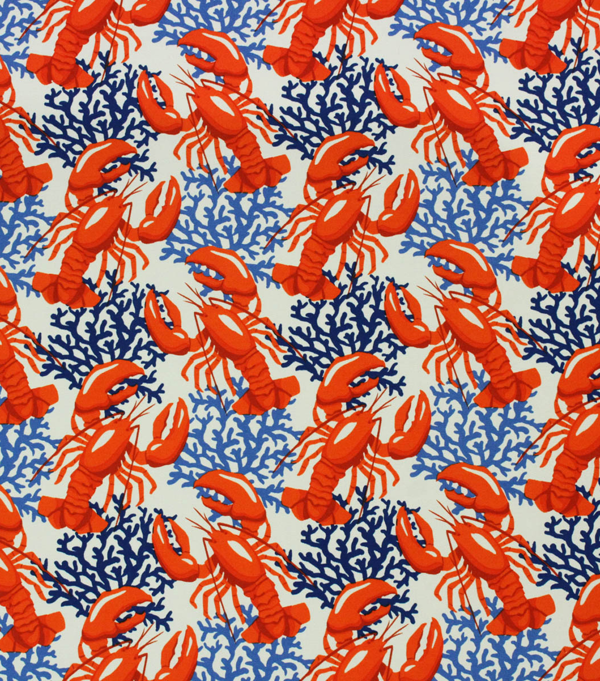 Solarium Outdoor Fabric-Lobsters Nautical