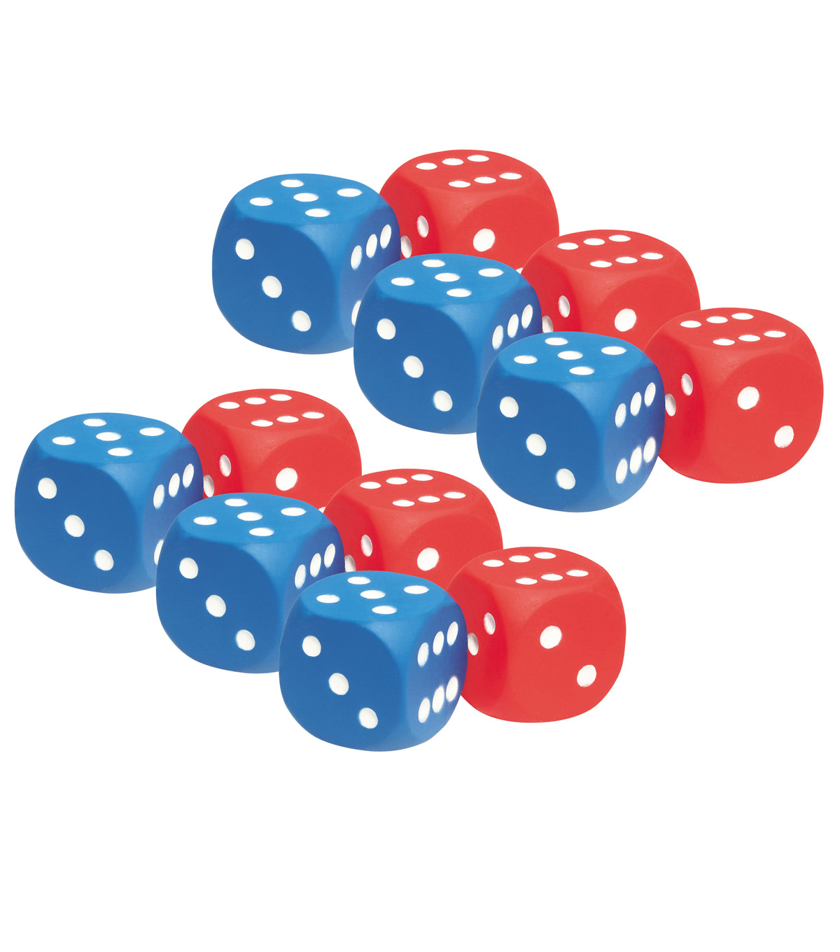 Learning Resources Foam Dot Dice, 2 Per Pack, 6 Packs