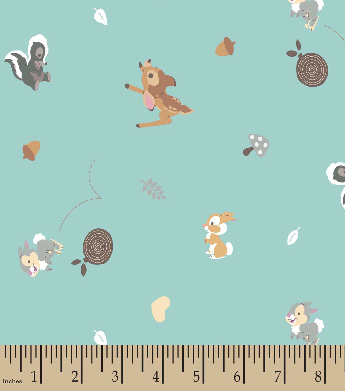 Disney Happy Bambi Print Fabric