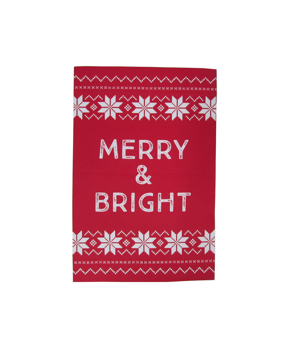 Maker\u0027s Holiday Christmas 12\u0027\u0027x18\u0027\u0027 Flag-Merry & Bright