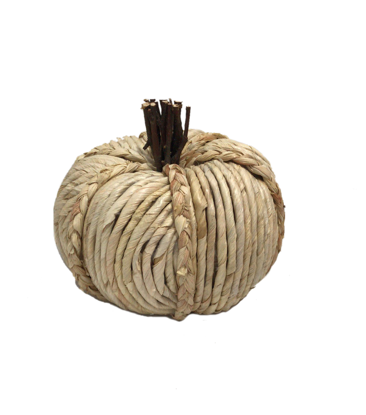 Simply Autumn Medium Braided Pumpkin-Cream