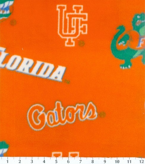 University of Florida Gators Fleece Fabric -Allover Orange