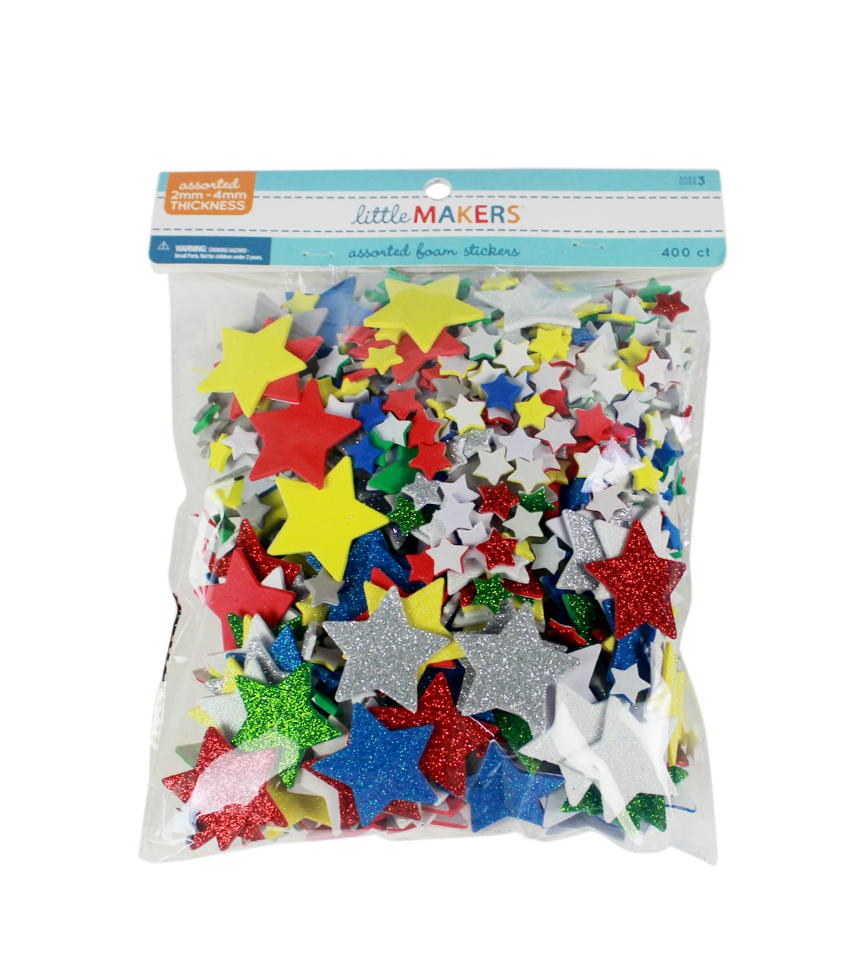 Little Makers Soild And Glitter Foam-Stars