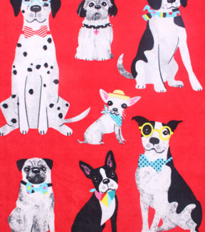 No-Sew Throw Fleece Fabric 48\u0022-Best Doggies