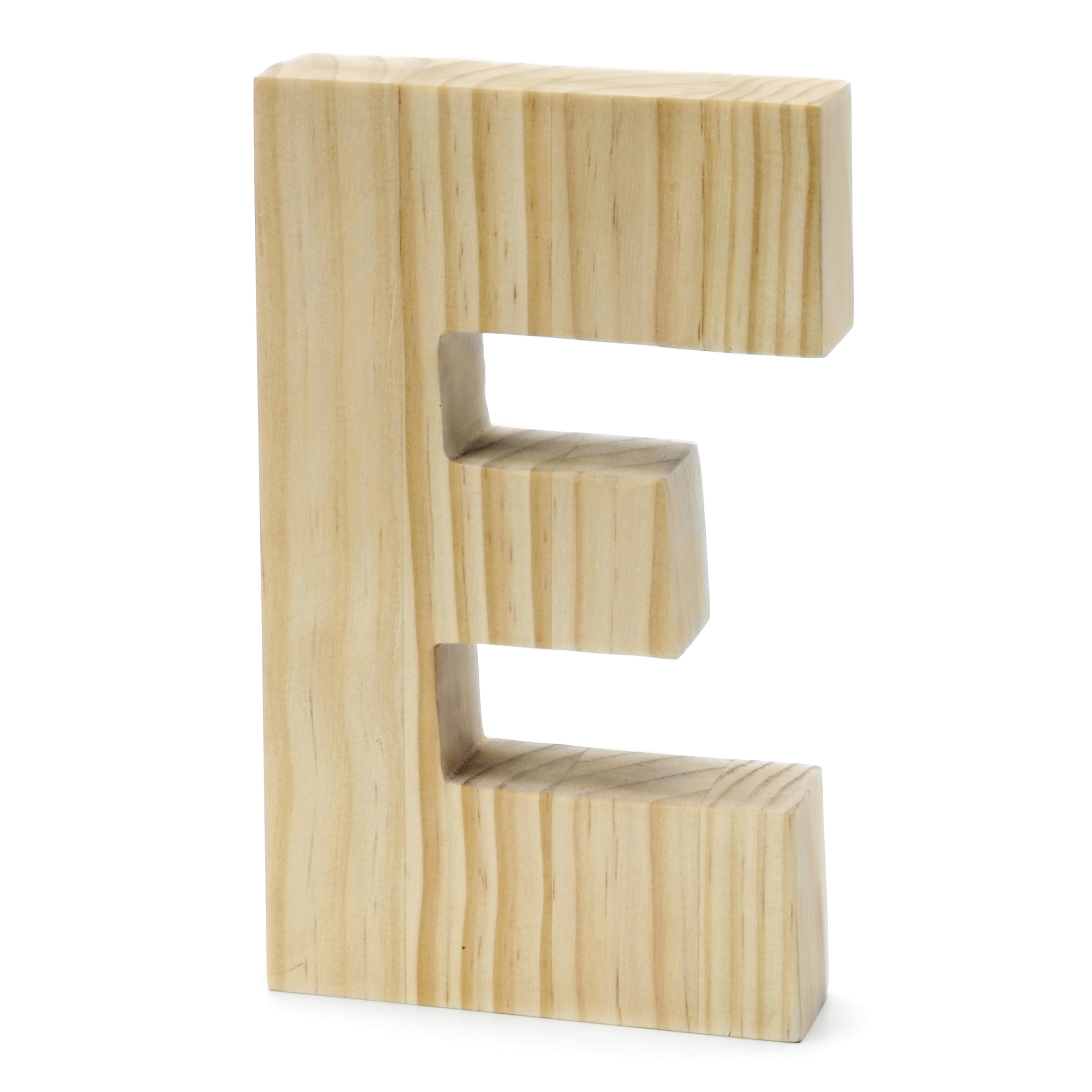 Chunky Wood Letter 8 X 5 In, E