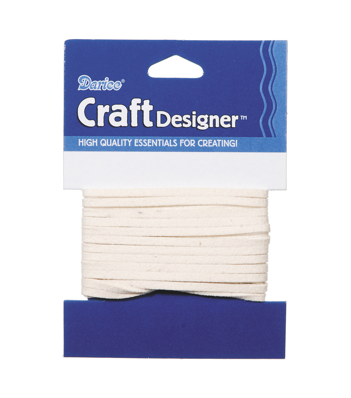 3mm Ivory Suede Cording, 3 yards