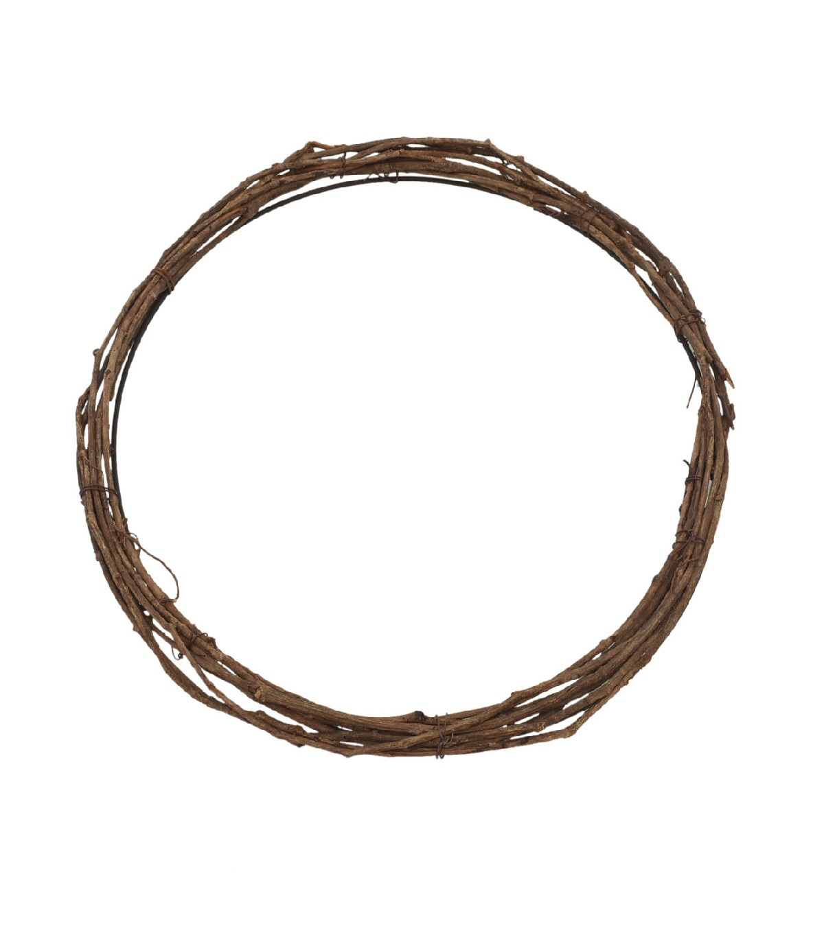 Blooming Autumn Twig Wreath Base-Brown