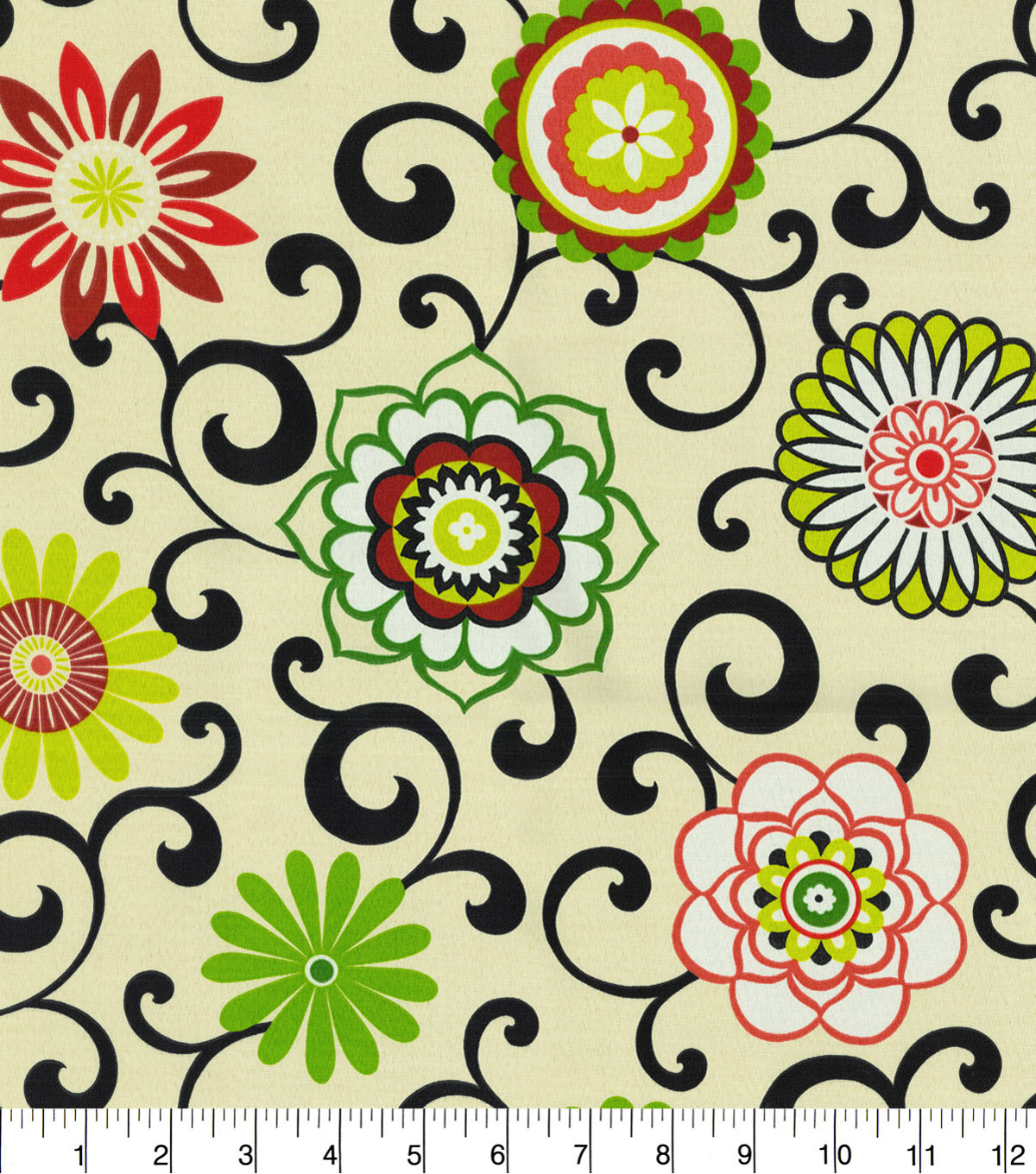 Waverly Sun N Shade Fabric 9\u0022x9\u0022 Swatch-Pom Pom Play Jewel