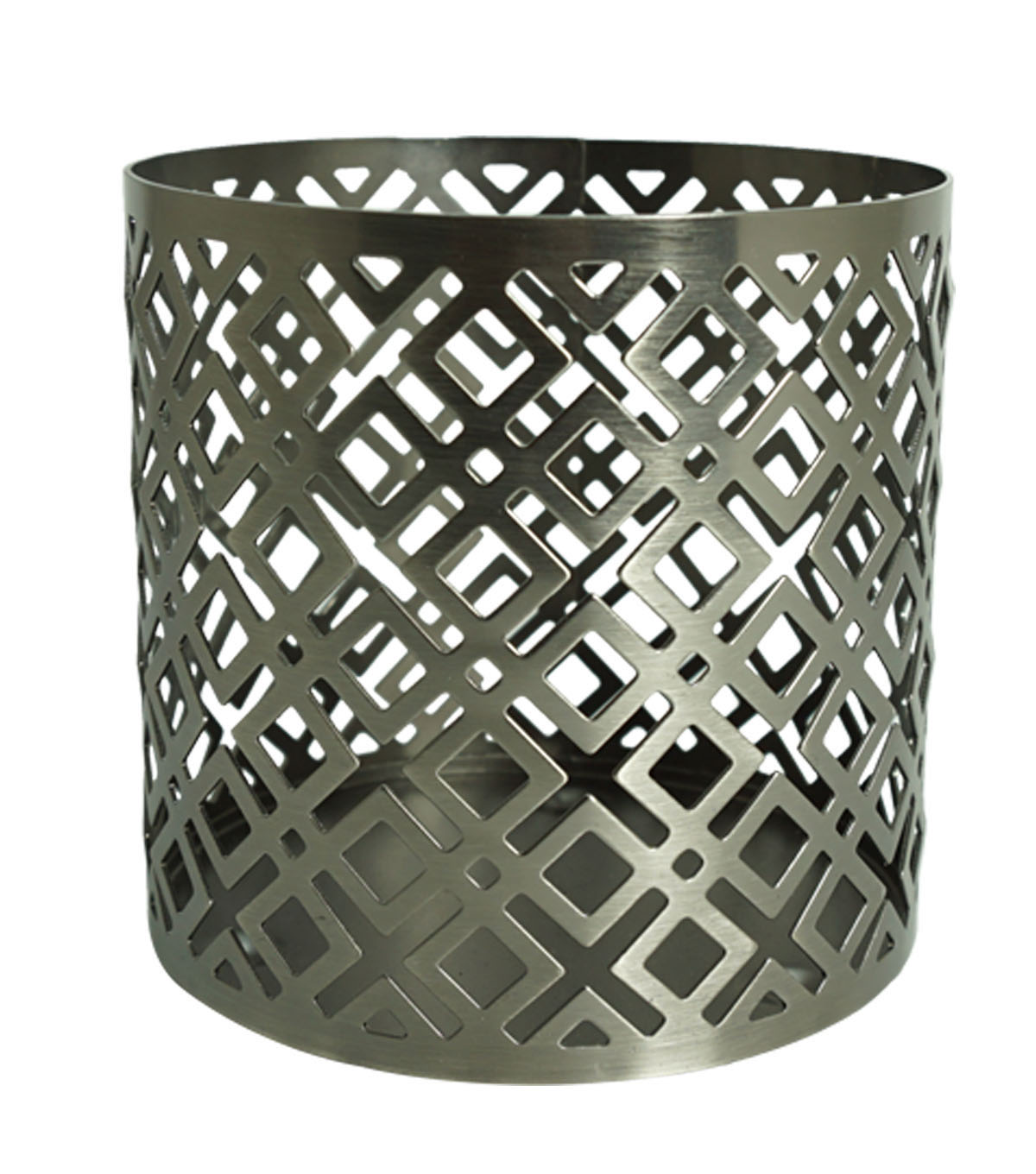 Hudson 43 Diamond Cut Candle Sleeve-Silver