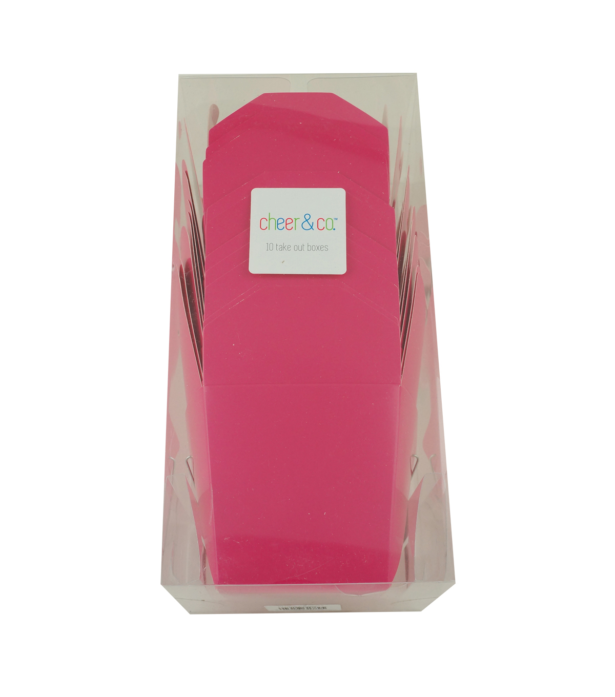 Cheer & Co. 10 pk Take Out Boxes-Bright Pink