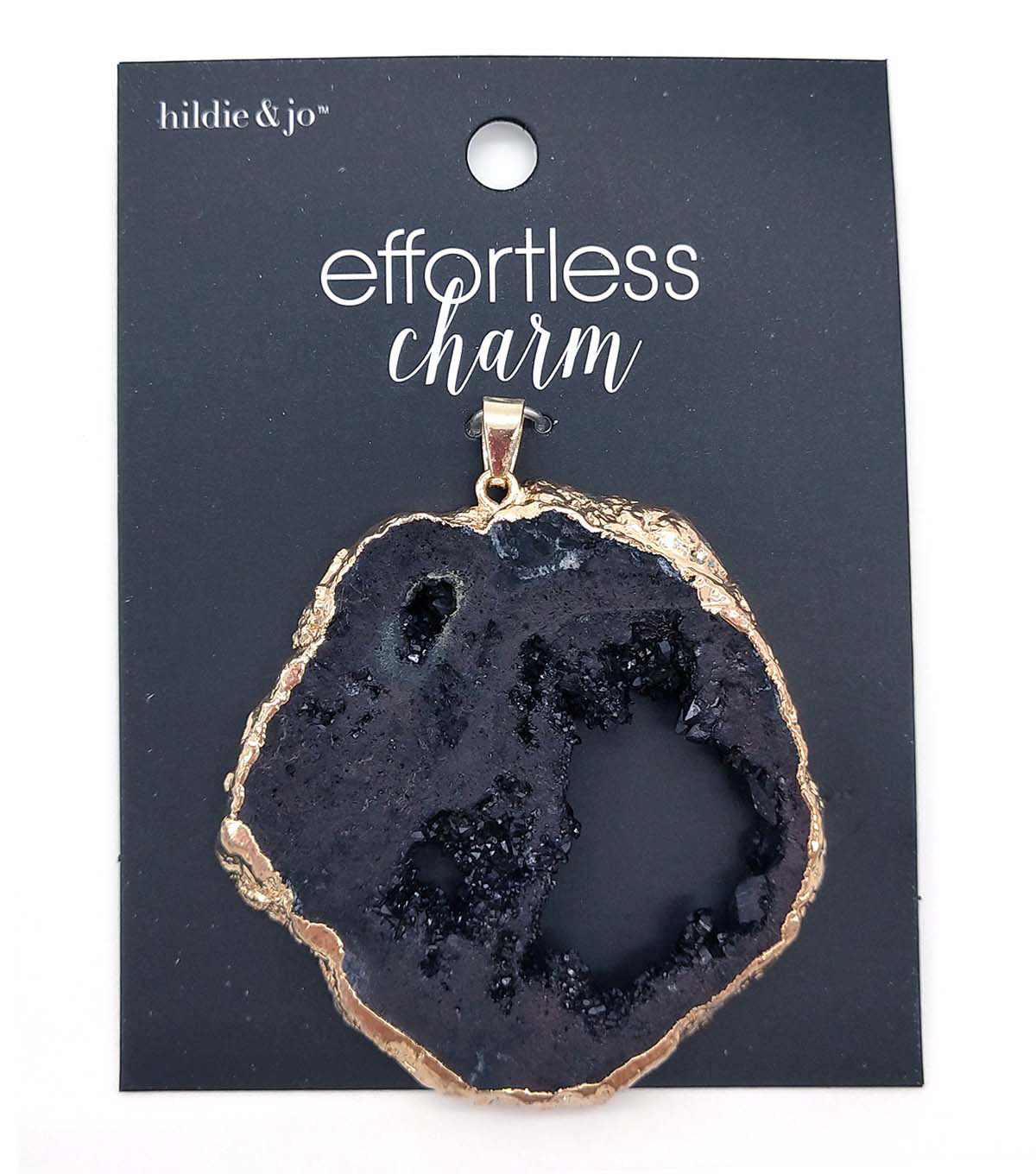 hildie & jo Effortless Charm Stone Pendant-Black